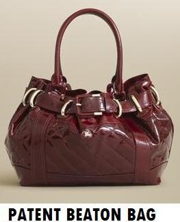 Burberry's Patent Beaton bag
