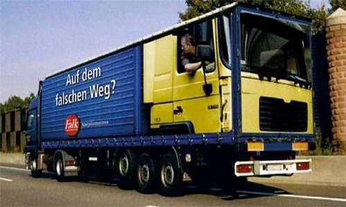Backwards Truck