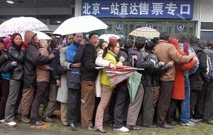 Beijing Railway Queue